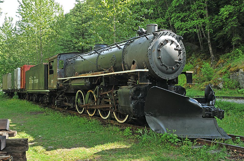 OLD 2-8-2 CLASS STEAM LOCOMOTIVE, SKAGWAY, ALASKA