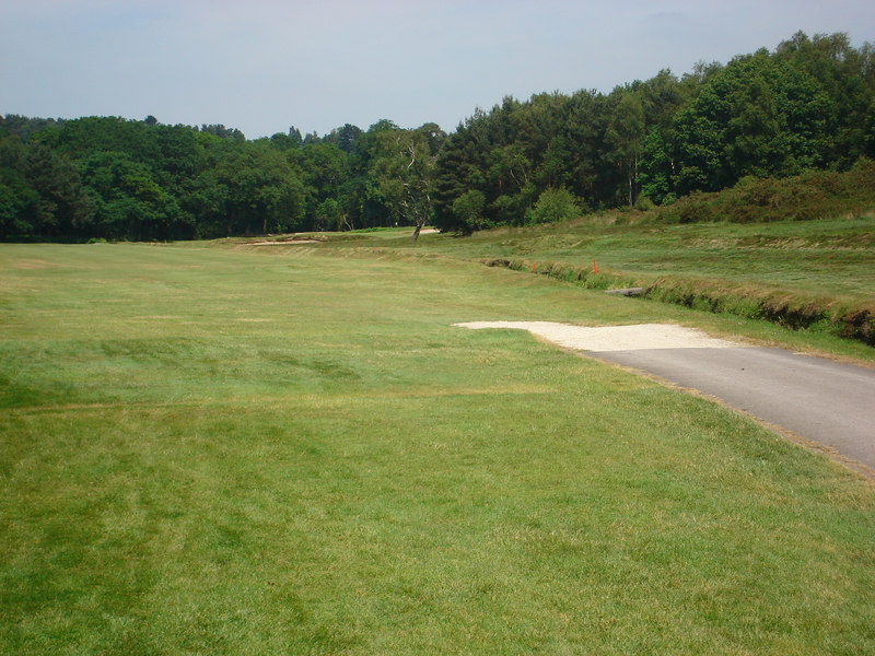 LOOKING DOWN THE FIRST, PAR 5, @ BROADSTONE