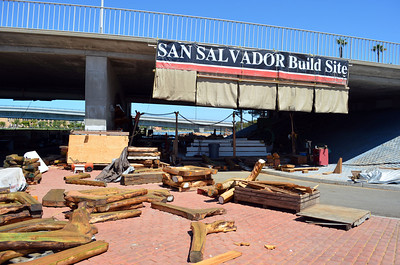 San Salvador Construction Area under Harbor Drive Bridge