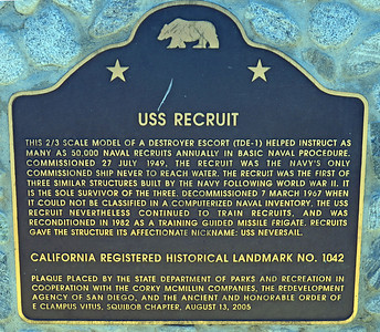 Plaque of Information on the USS Recruit