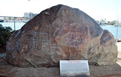 Archaeological Drawings on Huge Rock, drawn by Cumeyaay Indians
