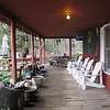 The front porch at TWO. I have no idea how many hours I've sat in those Adirondack chairs.
