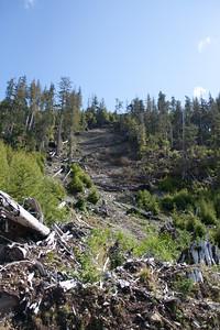 Landslide near Sheila 125