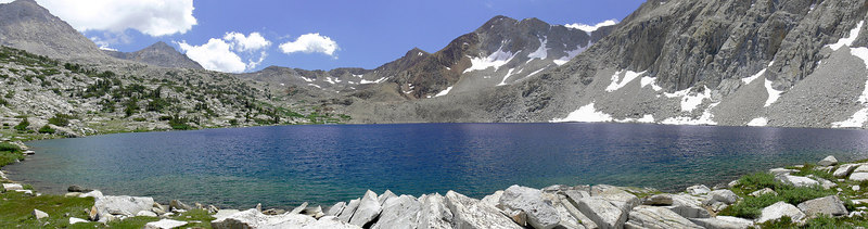 This 4-pic panorama is of Lake Marjorie further along the JMT.