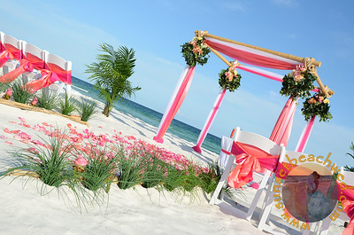 Coral, Fuchsia, and White Color Combination
