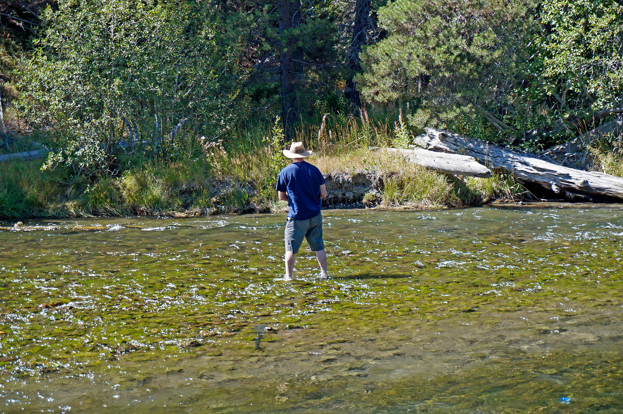 Geoff fly fishing on the Truckee River.