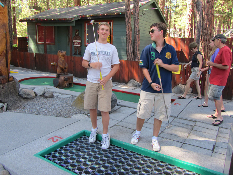 Cooper and Ewald at old/favorite miniature golf site.