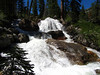 Amazing torrents of snow melt roar past the trail--also a first for this time of year.