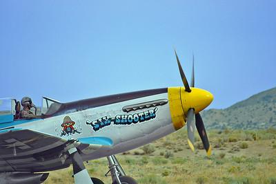 P-51D warming up.