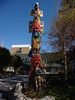 Only a few years old, the totem pole in front of the Cal Neva still greets the few visitors who pass it.