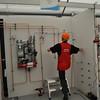 Gudo Rijk van Team Nederland doet mee aan de mbo-wedstrijd Sanitaire Techniek. Goede oefening voor EuroSkills.