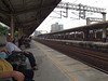 In Taipei, waiting for the train.