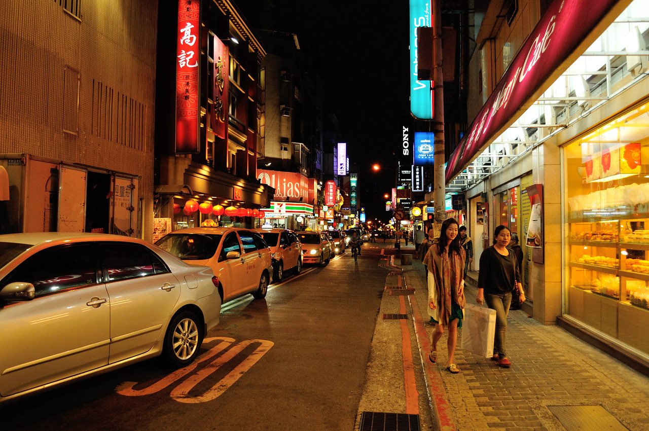Taipei city at night