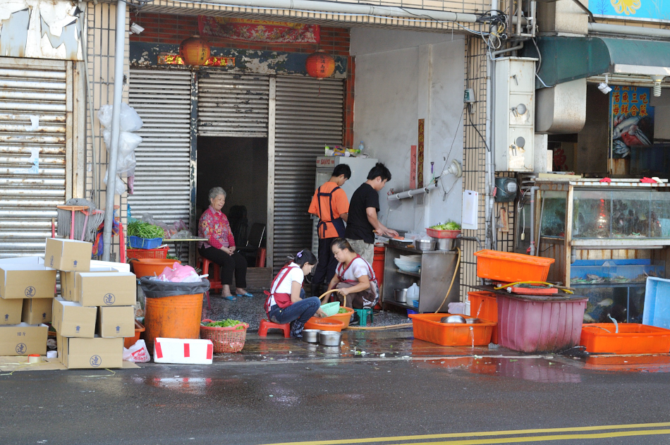 Often the food is prepared on the street