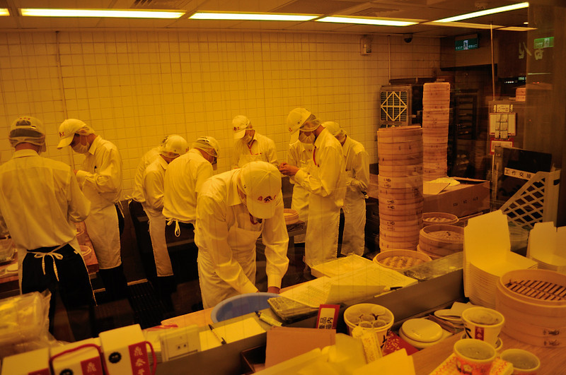 the kitchen - like a microchip factory