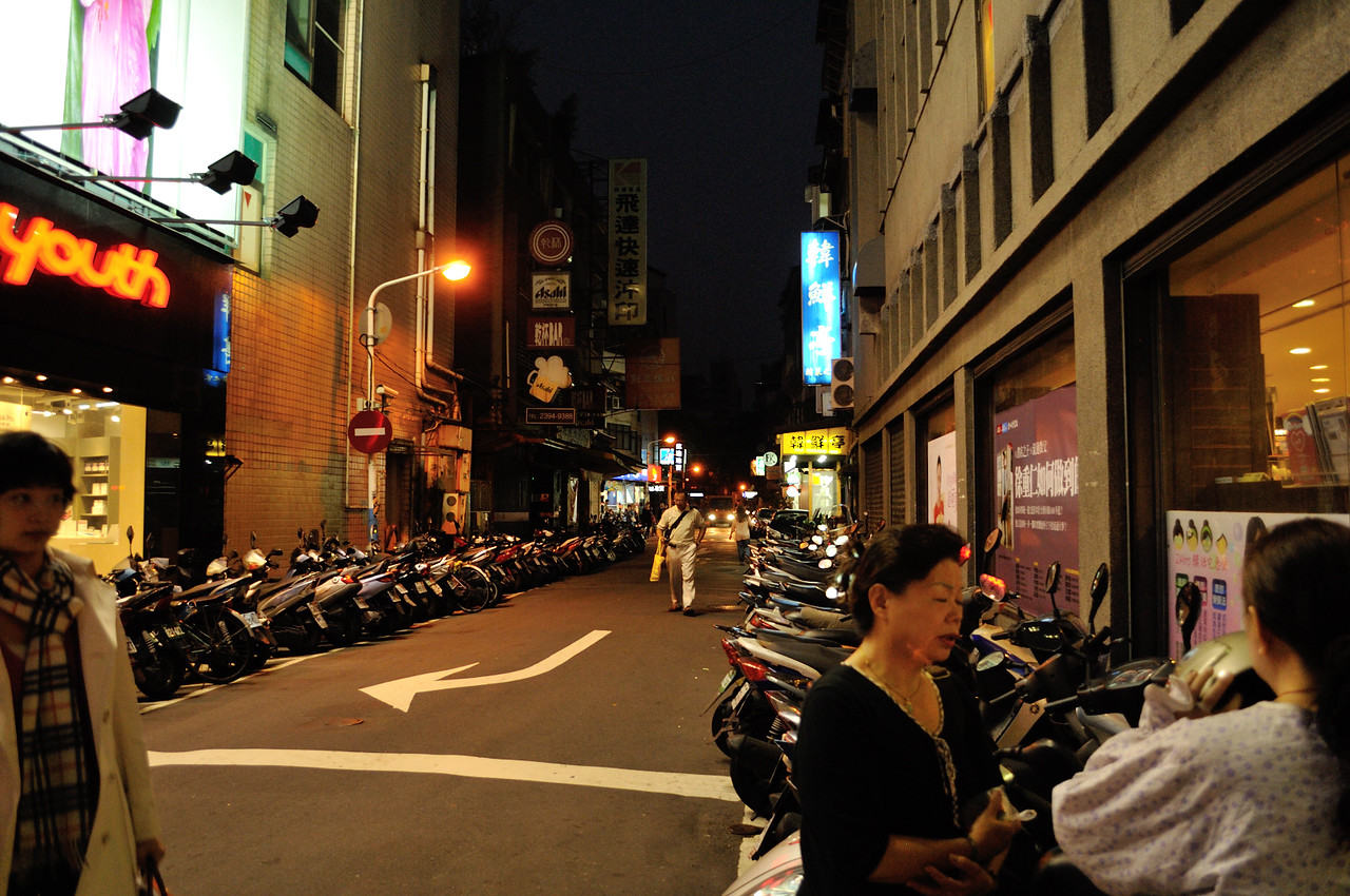 Taipei is the city of scooters (mopeds)
