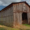 Main Barn with ladder on side