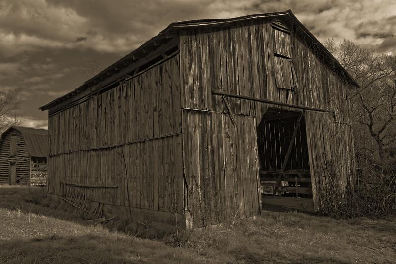 Main Barn in Sepia Terra toning