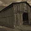 Main Barn in Sepia Terra toning