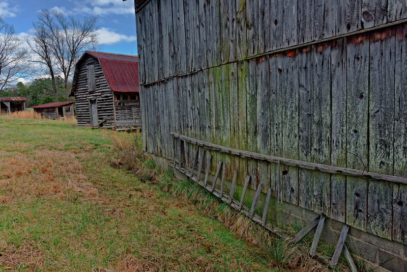 Row of Barns and Outbuildings