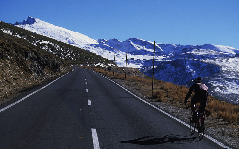 Cycling to Sierra Nevada, Spain