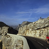 Road cyclist, Verdon Gorge, France
