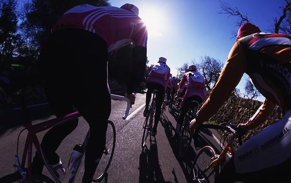 Pro cycling team training, Spain