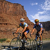 Road cyclist, Moab, Utah, USA