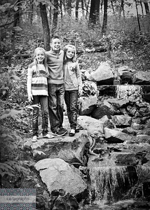 Kids by Waterfall bw (1 of 1)-2