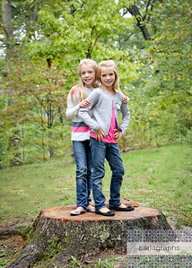 Girls on Tree Stump (1 of 1)