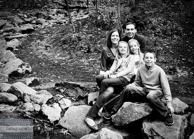 Family by Stream lower cropped bw (1 of 1)
