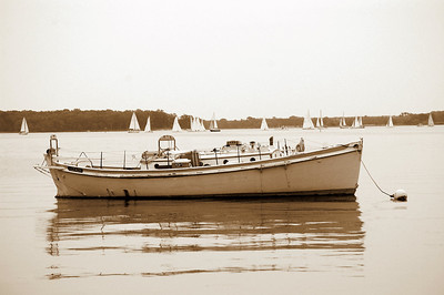 Lifeboat in Sepia