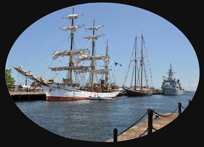 Old and New at Charlestown Navy Yard
