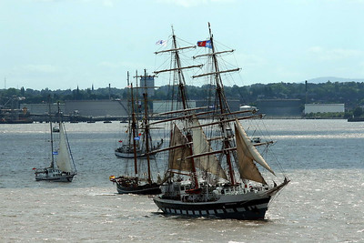 Tall ships leave Liverpool 21st July 2008