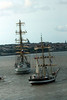Tall ships leave Liverpool on 21st July 2008