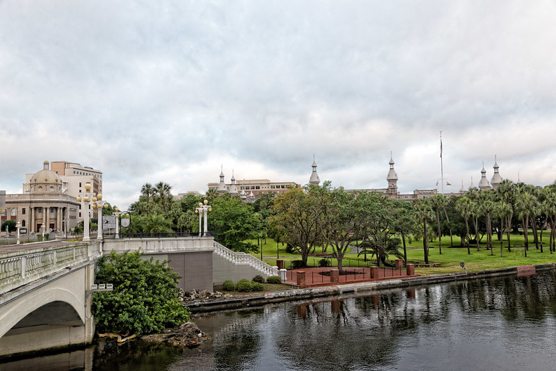 University of Tampa from Kennedy Bridge