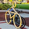 Bicycle-Shaped Bike Rack