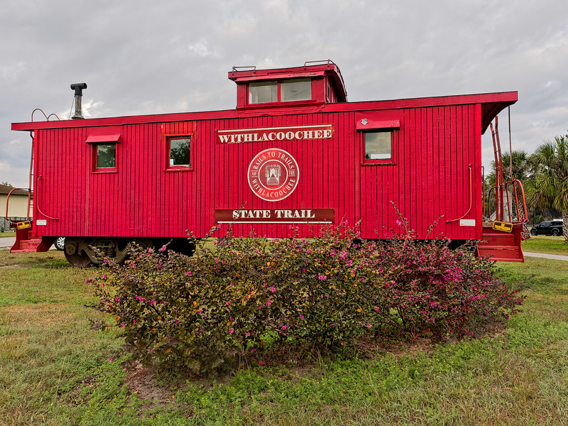 Old Caboose Displayed In Inverness