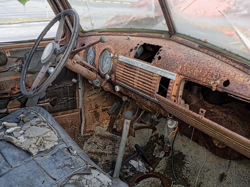 Dashboard of Cody's Truck