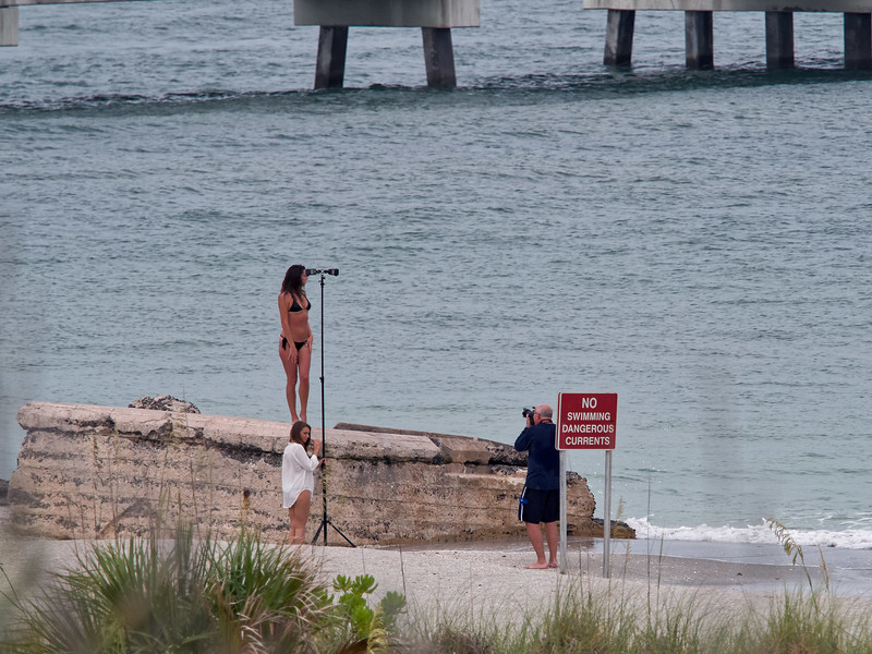 Photographer and Model at Fort De Soto