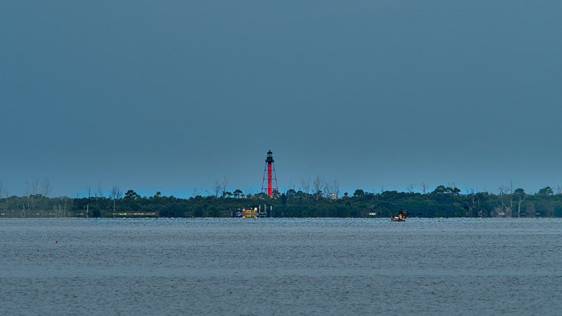 Anclote Key Lighthouse from Fred Howard Park