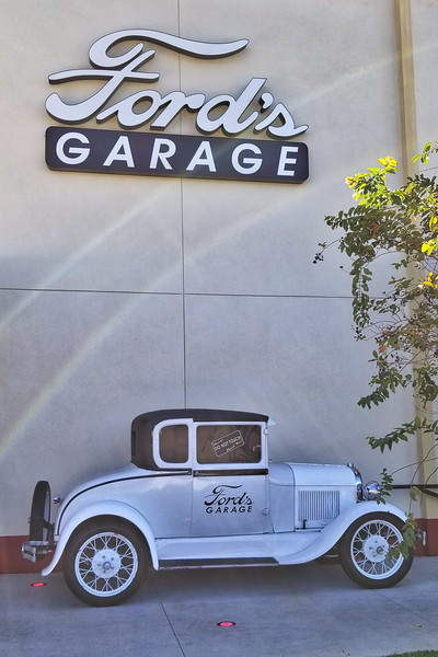 1930's Ford Coupe outside of Ford's Garage
