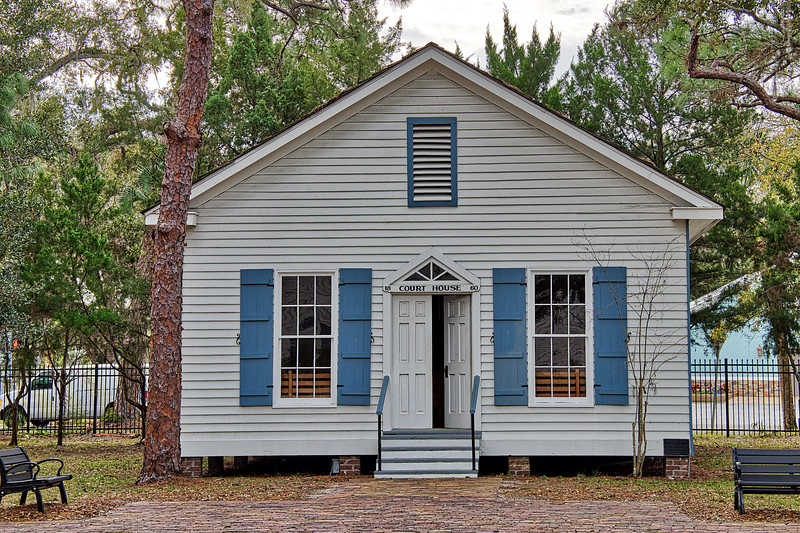 Manatee County's first courthouse built in 1860