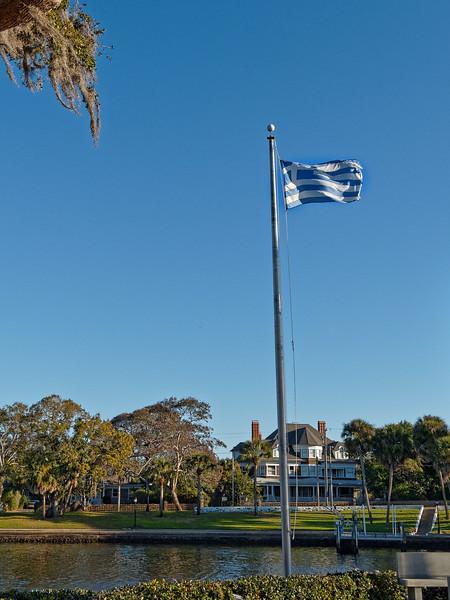 Greek Flag Flies above Craig Park