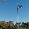 Greek Flag Flies above Craig Park