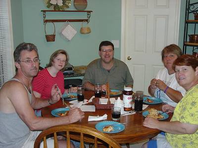 Dinner Time and Grandma T's Kitchen July 2005.