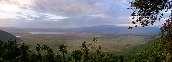 from the rim of ngorongoro crater