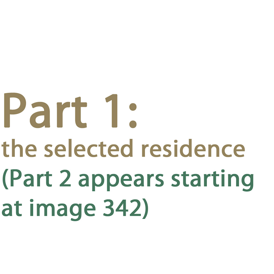 Part 1 - selected residence