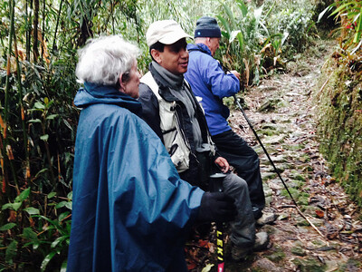 With guide Juan Carlos Calvachi.