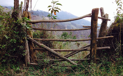 Interesting rustic gates were typical in the dry highlands.